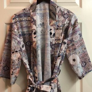 Beautiful Floral Robe or Bathing Suit Cover